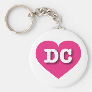 Heißes Rosa-Herz DCs - große Liebe Schlüsselanhänger