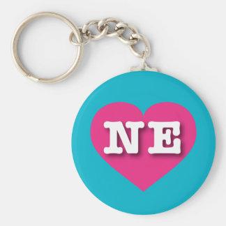 Heißes Rosa-Herz Nebraska - große Liebe Schlüsselanhänger