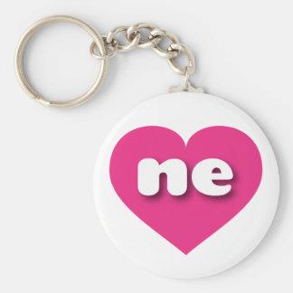 Heißes Rosa Nebraska - MiniLiebe Schlüsselanhänger
