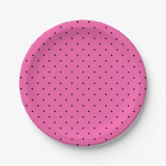 Heißes Rosa-Party-Papier-Teller Pappteller
