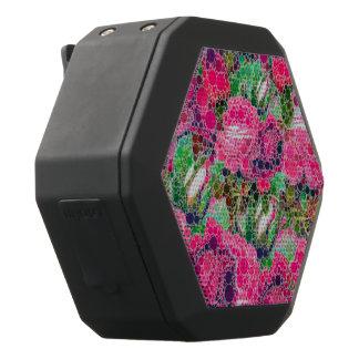 Heißes Rosa-Rosen abstrakt Schwarze Bluetooth Lautsprecher