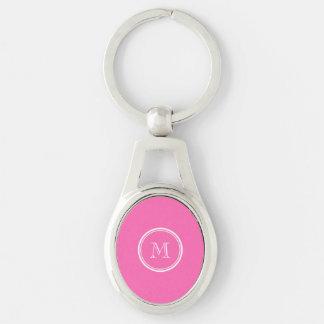 Heißes Rosa-Spitzen personalisiert gefärbt Schlüsselanhänger
