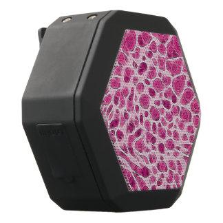 Heißes Rosa-Tierdruck abstrakt Schwarze Bluetooth Lautsprecher