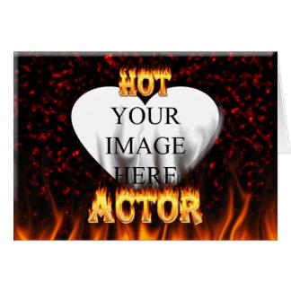 Heißes Schauspielerfeuer und roter Marmor Karte