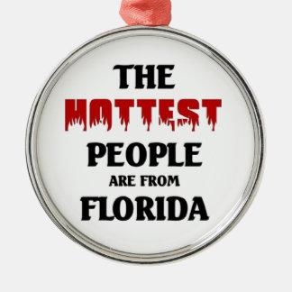 Heißeste Leute sind von Florida Rundes Silberfarbenes Ornament