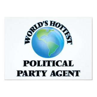 Heißester politischer das Party-Agent der Welt 12,7 X 17,8 Cm Einladungskarte
