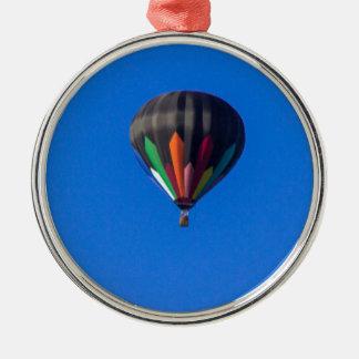 Heißluft-Ballon 1 Rundes Silberfarbenes Ornament