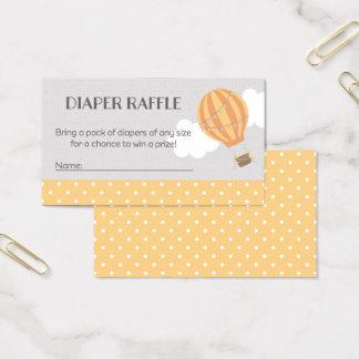 Heißluft-Ballon-Babyparty-Windelraffle-Karten Visitenkarte