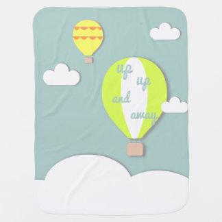 Heißluft-Ballon, herauf hohe und wegbaby-Decke Kinderwagendecke