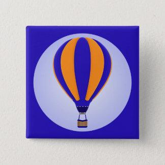 Heißluft-Ballon-Knopf Quadratischer Button 5,1 Cm