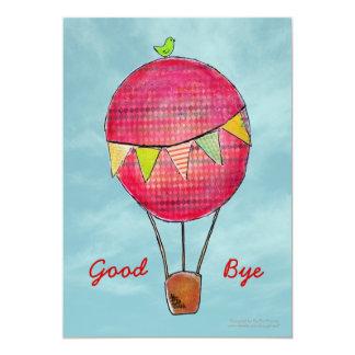Heißluft-Ballon-laden Abschiedsreise-Party ein 12,7 X 17,8 Cm Einladungskarte