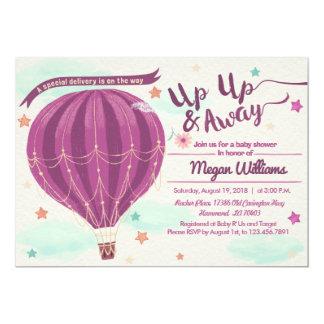 Heißluftballon-Babypartyeinladung 12,7 X 17,8 Cm Einladungskarte
