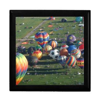 Heißluftballonfiestaansichten BH Schmuckschachtel