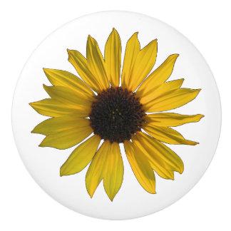 Heitre gelbe Sonnenblume Keramikknauf