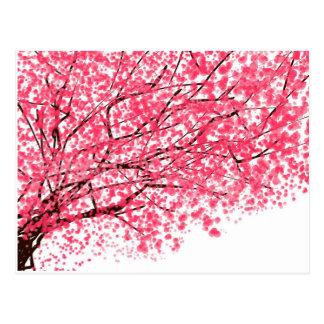 Heitre Kirschblüten-Postkarte Postkarte