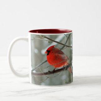 Heitre rote Kardinals-Tasse Zweifarbige Tasse