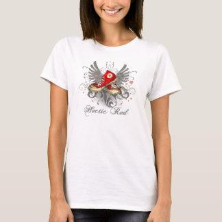Hektische rote hohe Spitzen mit Flügeln T-Shirt