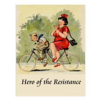 Held des Widerstands Postkarte