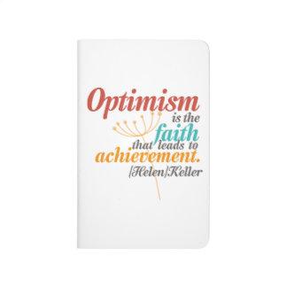 Helen Keller-Optimismus-Zitat Taschennotizbuch