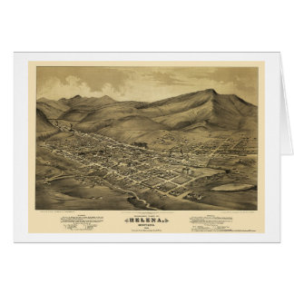 Helena, panoramische Karte M.Ü.s - 1875