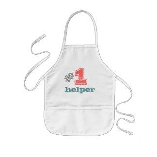 Helfer #1 scherzt Schürzeunisexjungenmädchen Kinderschürze