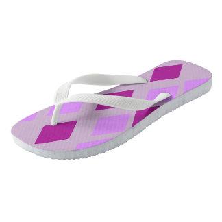 Heliotropische violette Auberginen-Diamanten Flip Flops