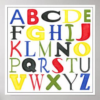 Hell farbige Buchstaben durch Megan Meagher Poster