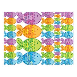 Hell farbige Fische Postkarte