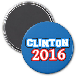 Hell farbige Hillary Clinton 2016 Runder Magnet 7,6 Cm