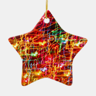 HELL FARBIGER HELLER WIRBEL KERAMIK Stern-Ornament