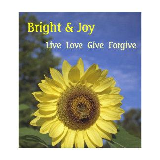 Hell u. Freude, Live, Liebe und geben Sie Leinwand Drucke