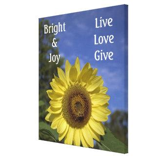 Hell u. Freude, Live, Liebe und geben Sie Leinwanddruck