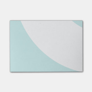 Hellblau und weiß post-it klebezettel
