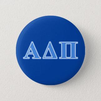Hellblaue Buchstaben Alphadeltapus Runder Button 5,1 Cm