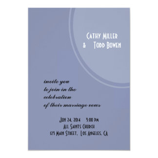 Hellblaue moderne Hochzeit 12,7 X 17,8 Cm Einladungskarte