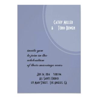 Hellblaue moderne Hochzeit Karte