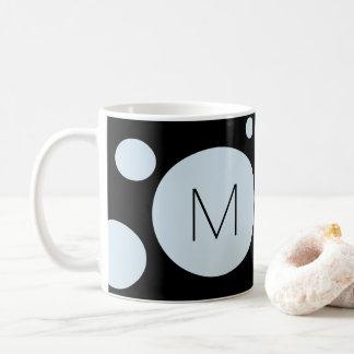 Hellblaue/schwarze Punkt-Gewohnheits-Tasse Kaffeetasse
