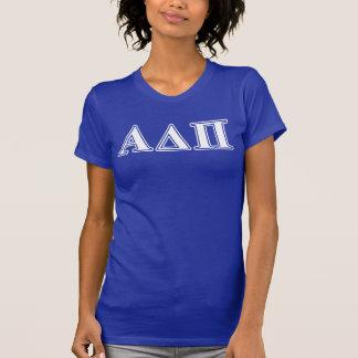 Hellblaue und weiße Buchstaben Alphadeltapus T-Shirt