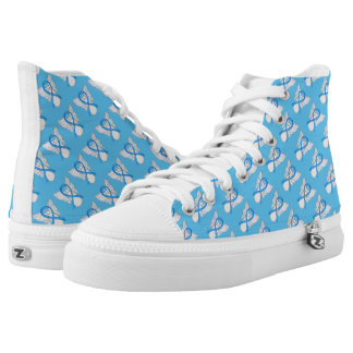 Hellblauer Hoch-geschnittene Sneaker