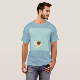Hellblauer sinkender Gato Watercolor-seltener T - T-Shirt