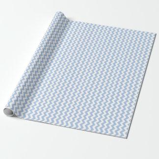 Hellblauer und weißer Zickzack Geschenkpapier