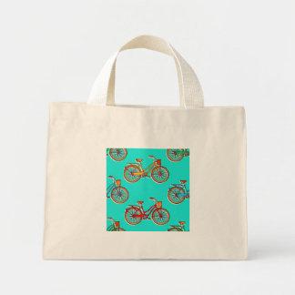Hellblaues Fahrrad-kleine Taschen-Tasche Mini Stoffbeutel