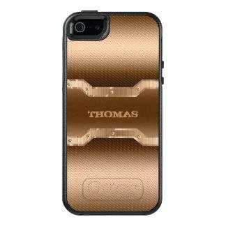 Hellbrauner gebürsteter Metallblick OtterBox iPhone 5/5s/SE Hülle