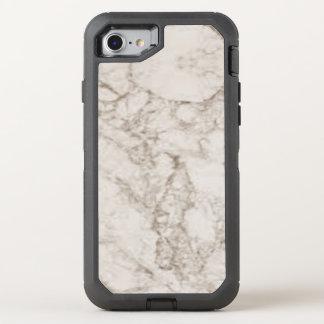 Hellbrauner Marmorblick OtterBox Defender iPhone 7 Hülle