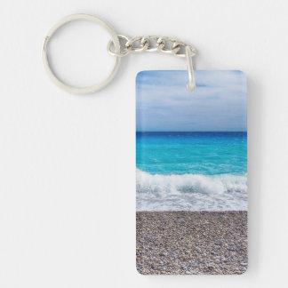 Helle Ansicht des Meeres Schlüsselanhänger
