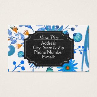 Helle blaue klassische Tafel-Visitenkarten Visitenkarte