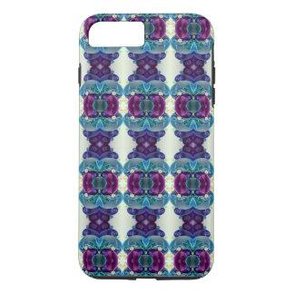 Helle blaue lila römische Sockel-Säulen-Fliese iPhone 8 Plus/7 Plus Hülle