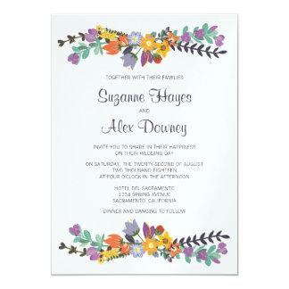 Helle Blumenfrühlings-Hochzeit 12,7 X 17,8 Cm Einladungskarte