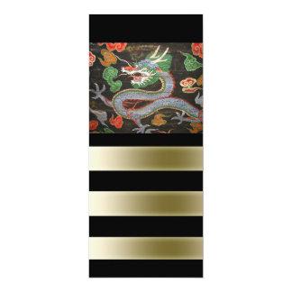 Helle bunte asiatische Drache-Kunst 10,2 X 23,5 Cm Einladungskarte