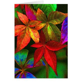 Helle bunte Blätterkarte Karte